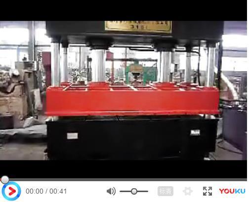 科信锻压315吨四柱液压机视频